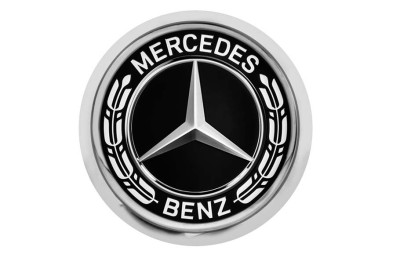 Значок Mercedes-Benz Pin, Laurel Leaf Badge, Silver-coloured / Black