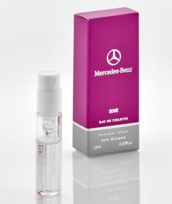 Пробник, женская туалетная вода Mercedes-Benz Rose perfume Women, Sample