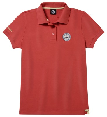 Женская рубашка-поло Mercedes Women's Polo Shirt, Red / Gold-coloured