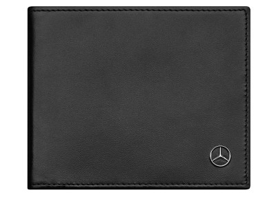 Кожаный кошелек Mercedes-Benz Wallet, Calfskin, RFID, Black