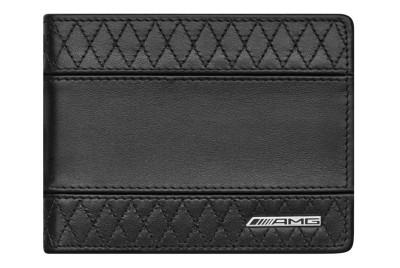 Кожаный кошелек Mercedes-Benz AMG Wallet, Black Leather, RFID protection
