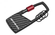 Брелок Mercedes-Benz Key Ring, AMG, Snap Hook, Black / Red
