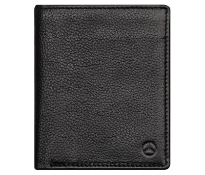 Кожаный кошелек Mercedes-Benz Wallet, Cowhide, Black, RFID Protection