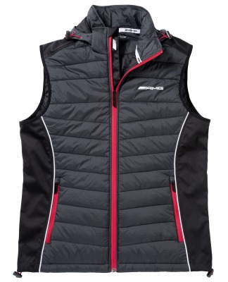 Мужской жилет Mercedes-Benz Men's Gilet, AMG, Black / Selenite Grey / Red