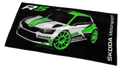 Банное полотенце Skoda Towel Motorsport, Size XL, Black/Green