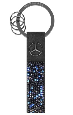Брелок Mercedes-Benz Key Ring, Milano, Black Edition, Black / Blue, Swarovski