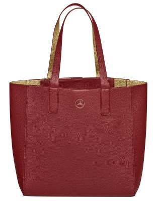 Сумка для покупок Mercedes-Benz Shopper, Red / Gold-coloured