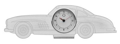 Настольные часы Mercedes-Benz Desk Clock, 300 SL, Silver-coloured