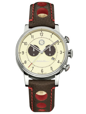Мужские наручные часы Mercedes-Benz Men's Chronograph Watch, Classic 300 SL, beige / brown / red