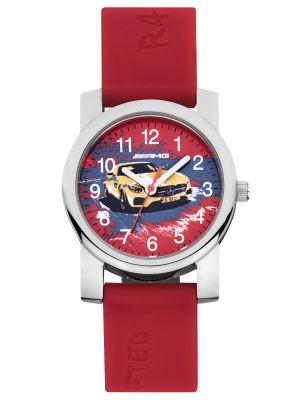 Детские наручные часы Mercedes-Benz Children's Watch, Mercedes-AMG GT, red / solarbeam / silver-coloured