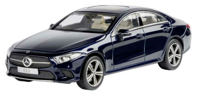 Модель автомобиля Mercedes CLS, Cavansite Blue, Scale 1:43