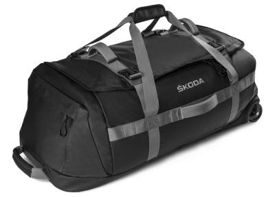 Дорожная сумка на колесиках Skoda Travel Bag on Wheels, Black/Gray