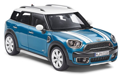 Модель автомобиля MINI Cooper S Countryman (F60), Island Blue, Scale 1:18
