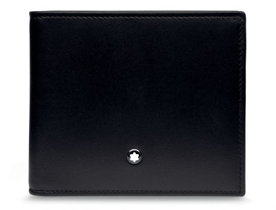 Кожаный кошелек BMW Wallet without Coin Compartment, by Montblanc, Black
