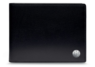Кожаное портмоне BMW Wallet with Coin Compartment, Black