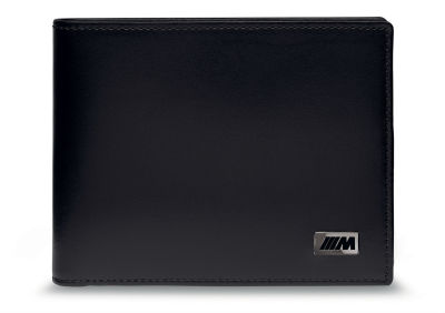 Кожаное портмоне BMW M Wallet with Coin Compartment, Black