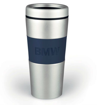 Термокружка BMW Logo Thermal Mug, Silver/Dark Blue
