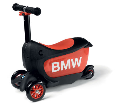 Детcкий самокат BMW Kids Scooter, Black/Orange