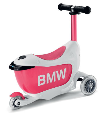 Детcкий самокат BMW Kids Scooter, White/Raspberry