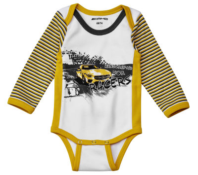 Боди для младенцев Mercedes-AMG GT, Babygrow, white / yellow / selenite grey