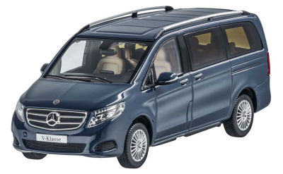 Модель автомобиля Mercedes V-Class, model series 447, Navy Blue, Scale 1:43