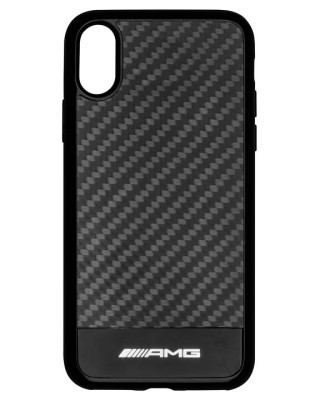 Чехол для iPhone X Mercedes-AMG Carbon Cover for iPhone® X, Black