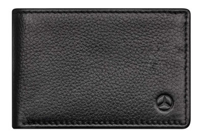 Кожаное портмоне Mercedes-Benz Mini Wallet, Cowhide, Black, RFID Protection