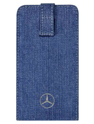 Чехол для смартфона Mercedes-Benz Smartphone Sleeve Trucker, Jeans Blue