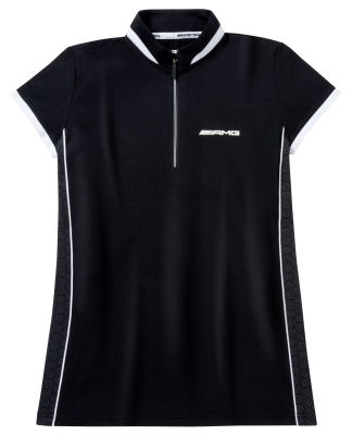 Женская рубашка-поло Mercedes-AMG Women's Polo Shirt, Black / White
