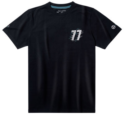 Мужская футболка Mercedes F1 Men's T-Shirt, Valtteri Bottas, Black