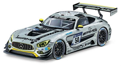 Модель Mercedes-AMG GT3, HTP Motorsport Team, Silver, 1:18 Scale