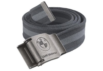 Текстильный ремень BMW Motorrad Canvas Belt, Grey Line