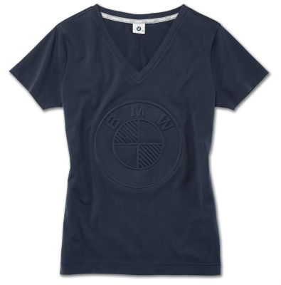 Женская футболка BMW Logo T-Shirt, Ladies, Dark Blue