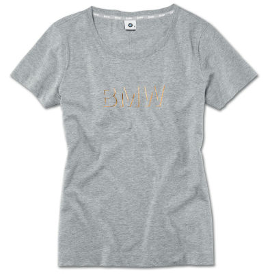 Женская футболка BMW T-Shirt, Ladies, Grey Melange