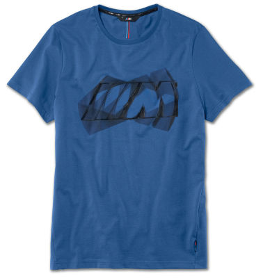 Мужская футболка BMW M Logo T-Shirt, Men, Marina Bay Blue