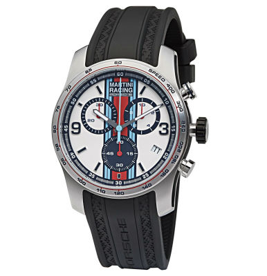 Наручные часы хронограф Porsche Martini Racing, Sport Chrono, silver/black/red/blue