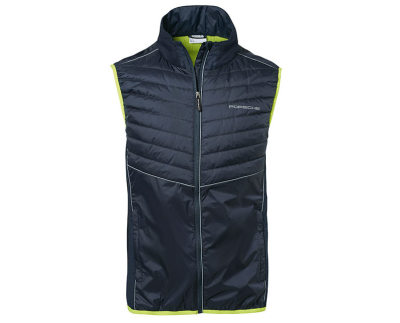 Мужской жилет унисекс Porsche Men's Gilet – Sport, Dark Blue / Acid Green