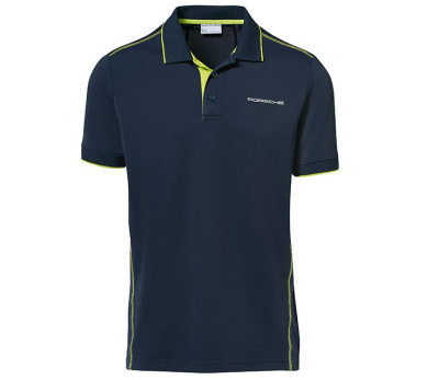 Мужское поло Porsche Men's Golf Polo Shirt Sport, Dark Blue