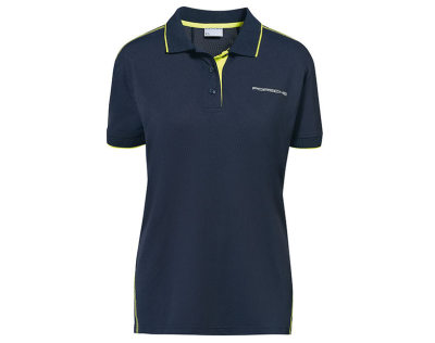 Женское поло Porsche Women's Polo Shirt Sport, Dark Blue