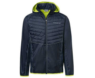 Мужская ветровка Porsche Men's Mix Windbreaker Jacket – Sport, Black/Acid Green