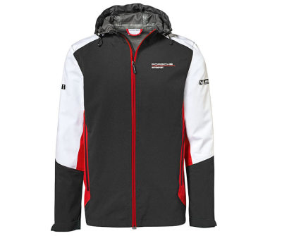 Ветровка унисекс Porsche Unisex Windbreaker Jacket, Motorsport, Black/White/Red