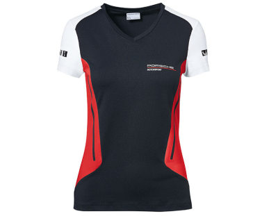 Женская футболка Porsche Women's T-shirt, Motorsport, Black/White/Red