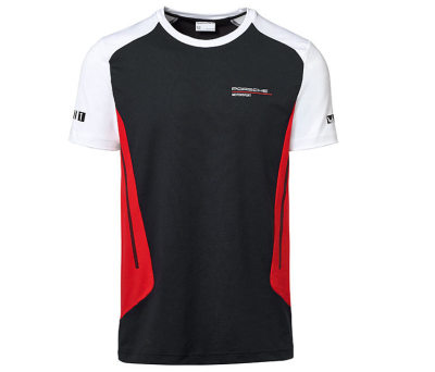 Мужская футболка Porsche Men's T-shirt, Motorsport, Black/White/Red