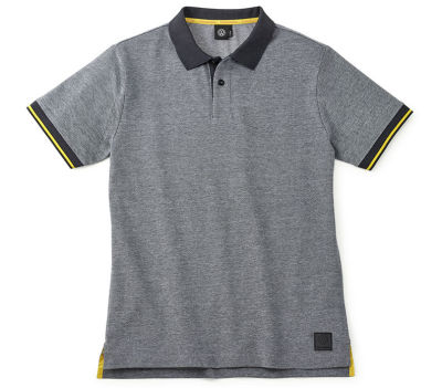 Мужская рубашка-поло Volkswagen Logo Men's Polo Shirt, Grey/Black/Yellow