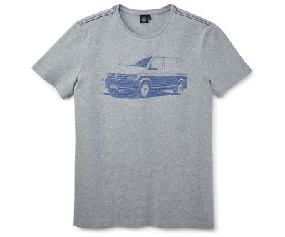 Мужская футболка Volkswagen T6 T-Shirt, Men's, Grey