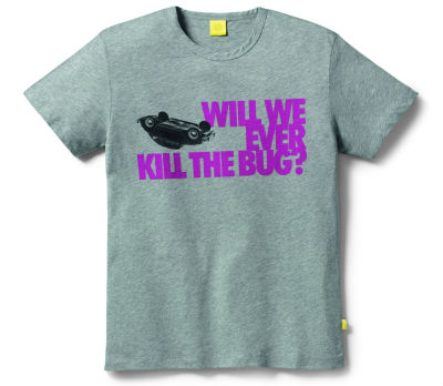 Мужская футболка Volkswagen Beetle T-Shirt, Men's, Will We Ever Kill The Bug, Grey