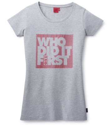 Женская футболка Volkswagen GTI T-Shirt, Ladies, Who did it first, Grey
