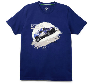 Мужская футболка Volkswagen Motorsport T-Shirt, Race Touareg, Men's, Blue