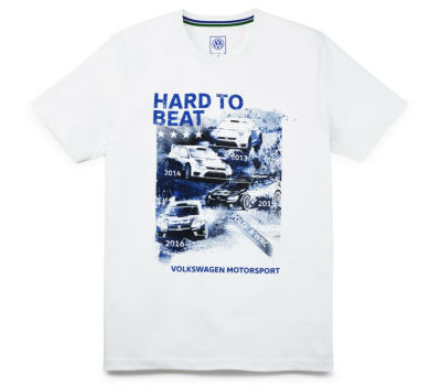 Мужская футболка Volkswagen Motorsport T-Shirt, Hard to beat, Men's, White