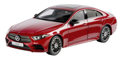 Модель Mercedes-Benz CLS Coupé AMG Line (C257), Scale 1:18, Designo Hyacinth Red Metallic